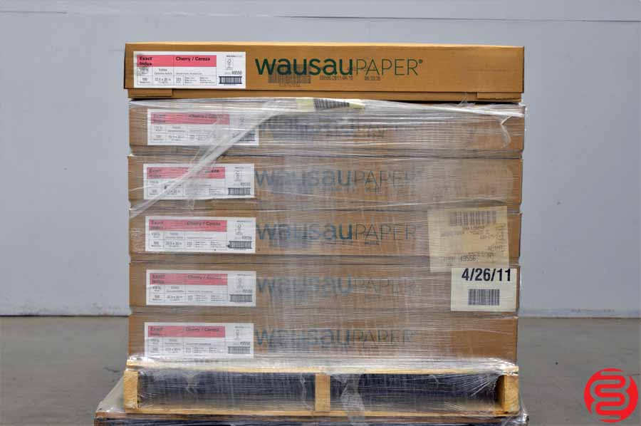 Wausau Exact Index Smooth Finish Cherry 110 lb 22 1/2 x 35 Paper - Qty 12 Cases