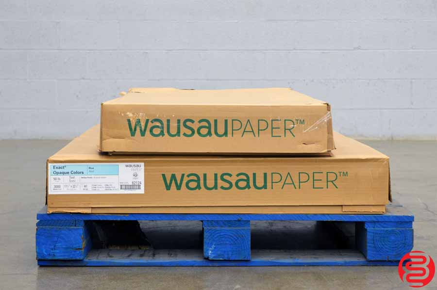 Wausau Exact Opaque Colors Blue 50 lb 17 1/2 x 22 1/2 Paper - Qty 3 Cases