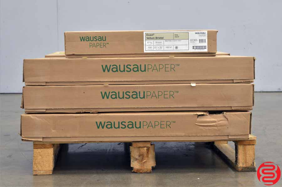 Wausau Exact Vellum Bristol Ivory 67 lb 23 x 35 Paper - Qty 7 Cases
