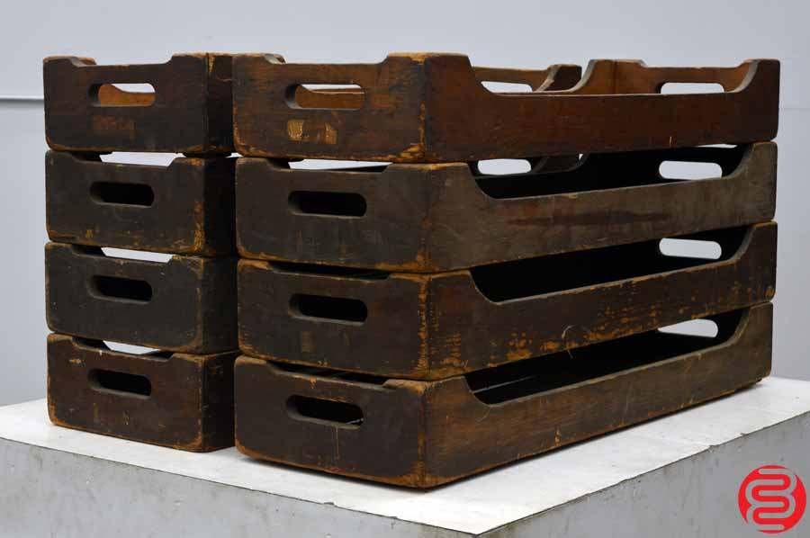 Antique Carrying Trays - Qty 8