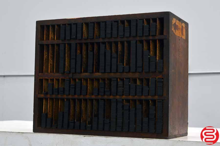 Hamilton Letterpress Furniture Cabinet w/ Assorted Wood Furniture