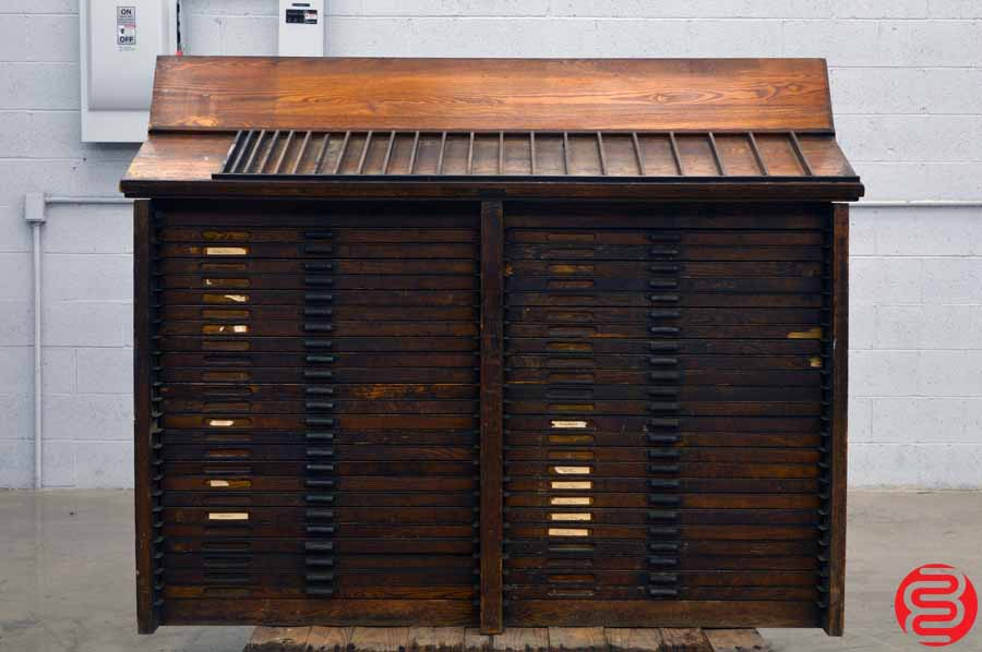 Hamilton Letterpress Type Cabinet - 48 Drawers
