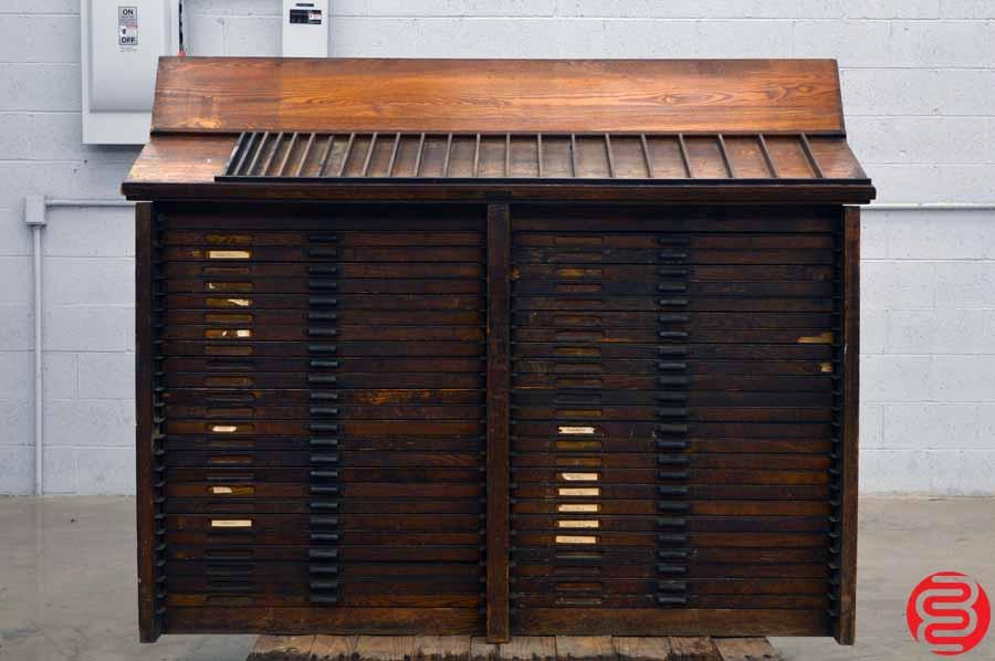 Hamilton Letterpress Type Cabinet - 48 Drawers