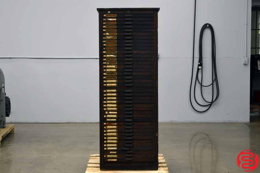 Hamilton Letterpress Type Cabinet - 40 Drawers