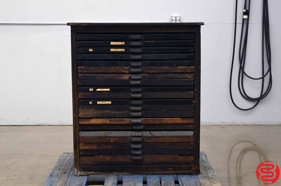 Hamilton Letterpress Type Cabinet - 20 Drawers