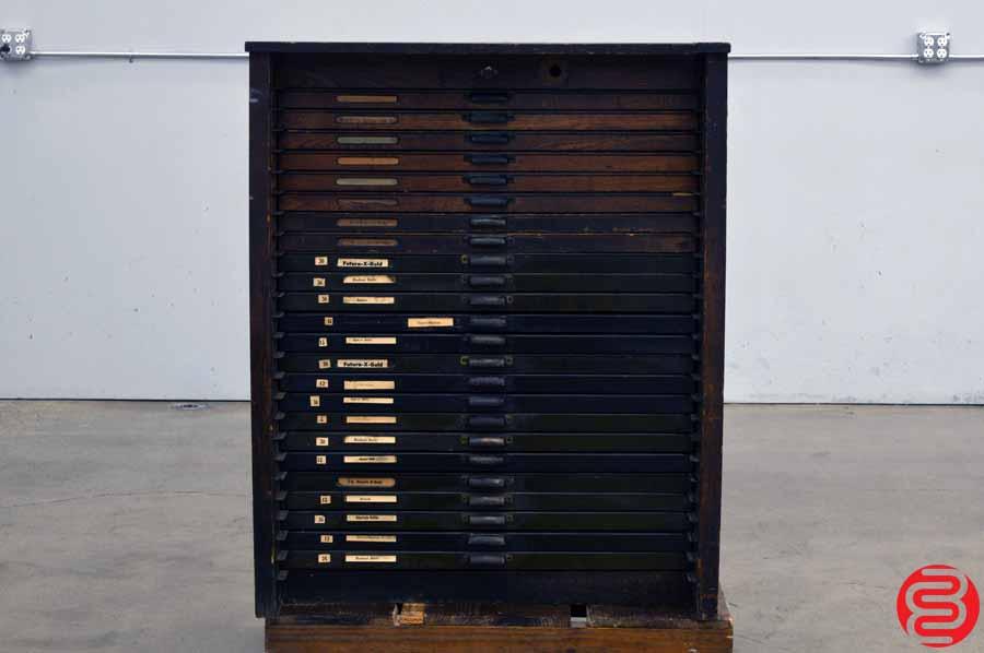 Hamilton Letterpress Type Cabinet - 24 Drawers