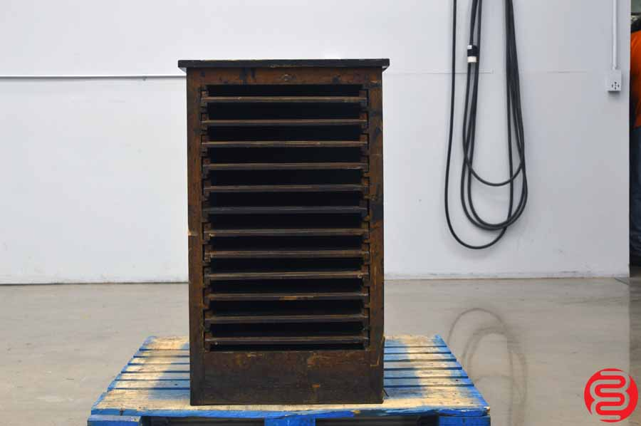 Hamilton Letterpress Type Cabinet - 12 Drawer