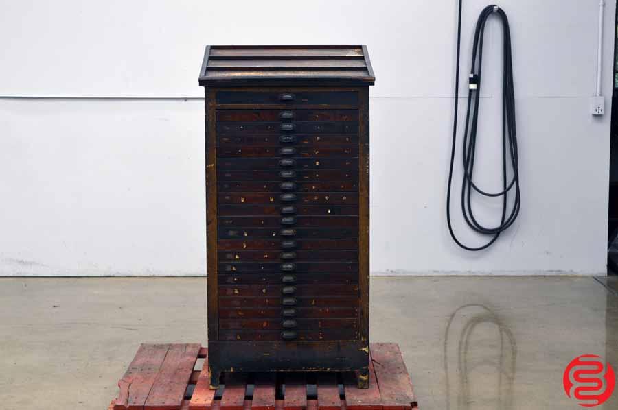 Hamilton Letterpress Type Cabinet - 21 Drawer