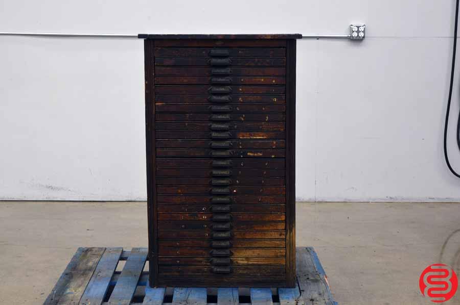 Hamilton Letterpress Type Cabinet - 25 Drawer