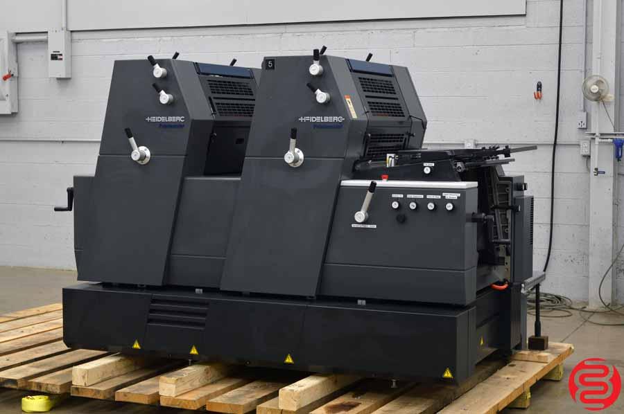 2001 Heidelberg Printmaster 52-2 GTO Two Color Offset Printing Press