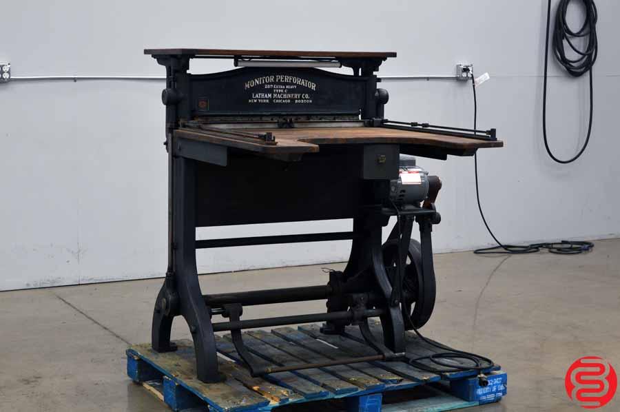 "Latham Machinery 28"" Extra Heavy Type C Monitor Perf Slit Score Machine"