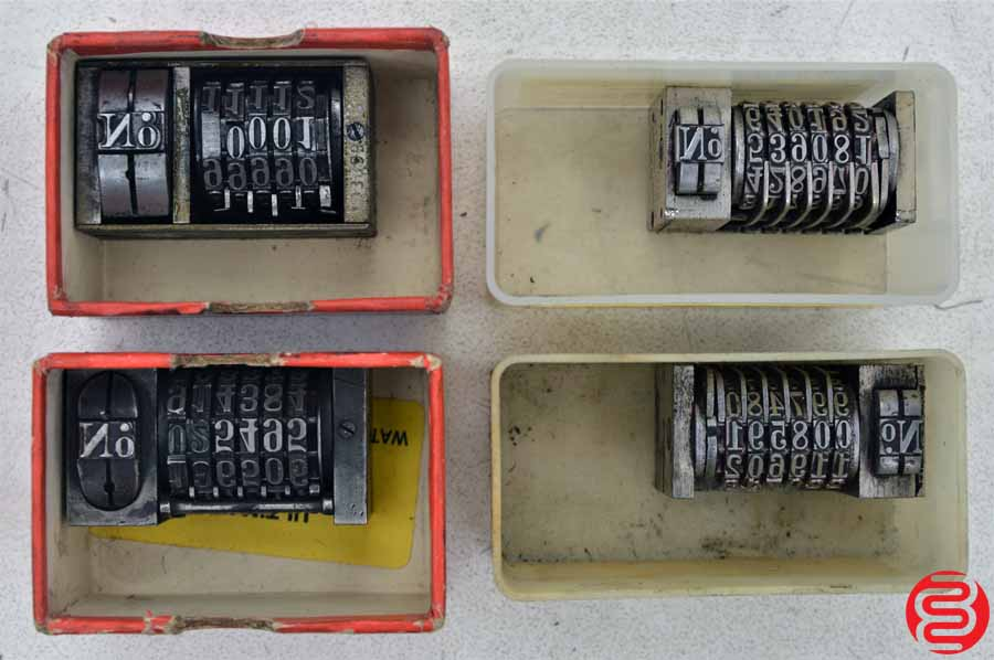 Numbering Machines - Qty 4