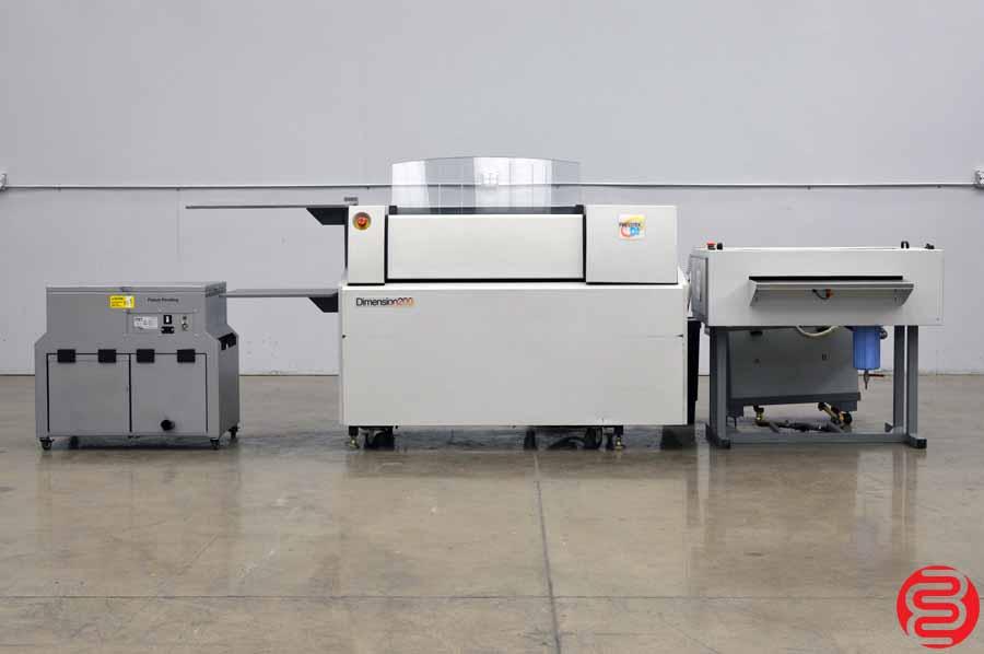 Presstek Dimension 200 Computer to Plate System w/ Anthem Plate Washer