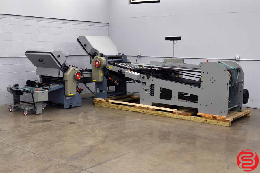 Stahl B26 Continuous Feed Paper Folder w/ 8 Page Unit and Mobile Delivery