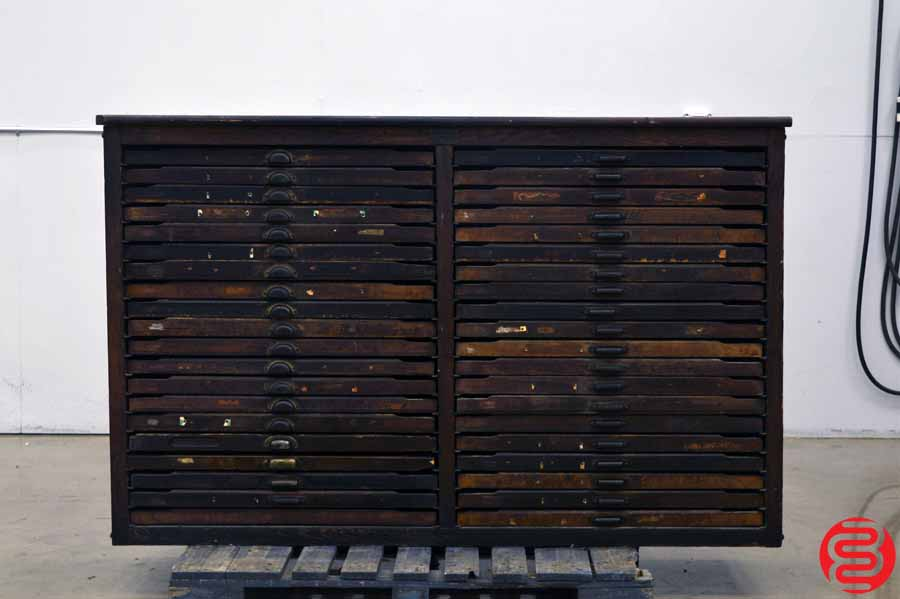 William Lloyd Letterpress Type Cabinet - 40 Drawers