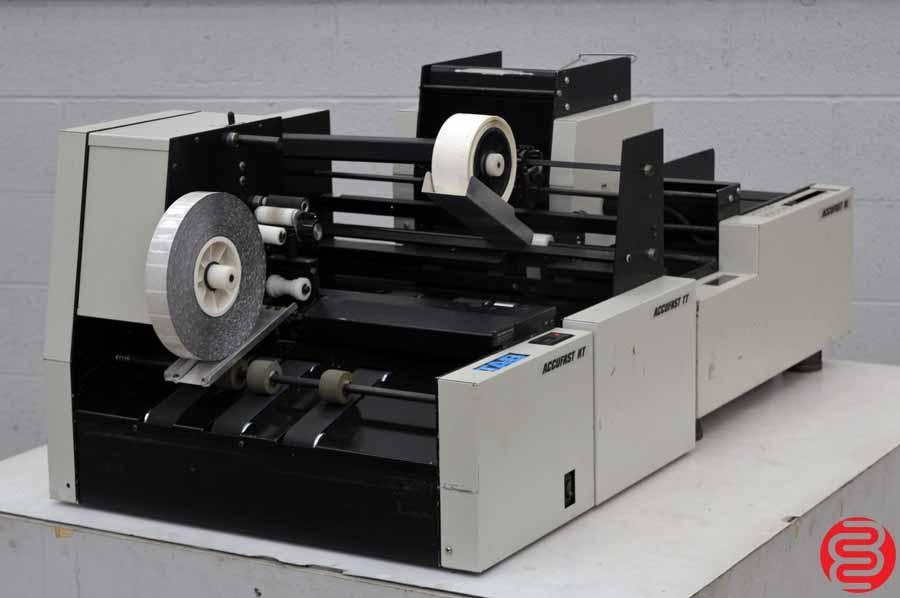 Accufast XL Labeling Machine w/ Accufast KT Tabbing Machine and TT Wafer Sealer