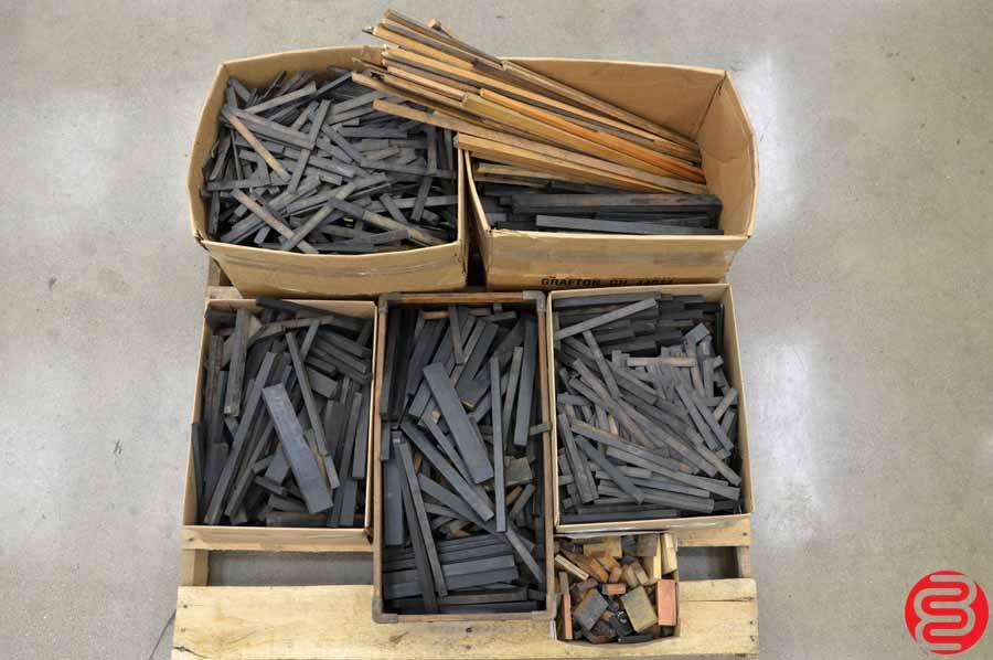 Assorted Letterpress Wood Furniture