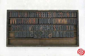 Assorted Wood Type Letterpress Font - 15 Line - 2.5""