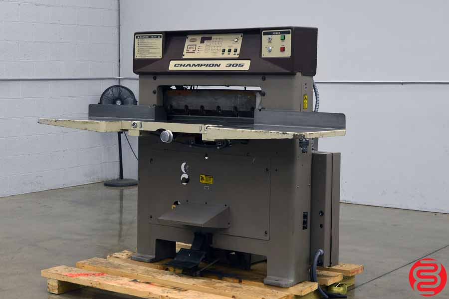 Challenge Champion 305 MPC Hydraulic Programmable Paper Cutter