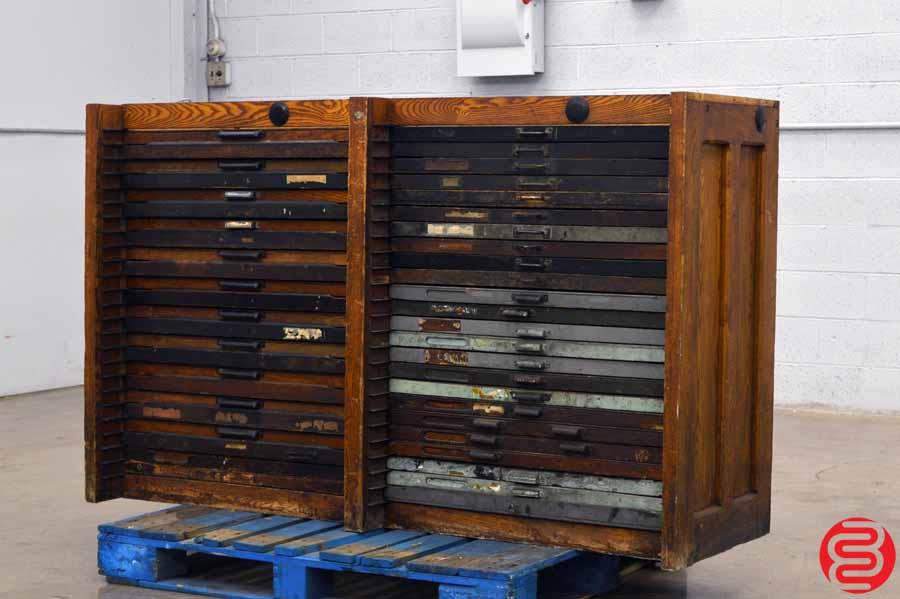 Hamilton Letterpress Type Cabinet - 48 Drawer