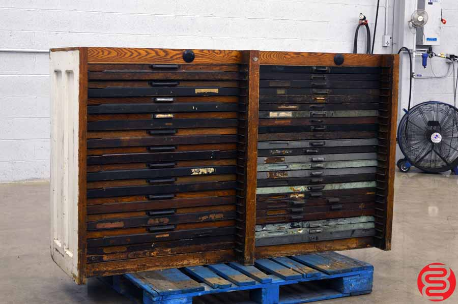 Hamilton Letterpress Type Cabinet - 48 Drawer ...