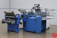 MBO B118 Pile Feed Paper Folder w/ 8 Page Unit and Gluing Unit