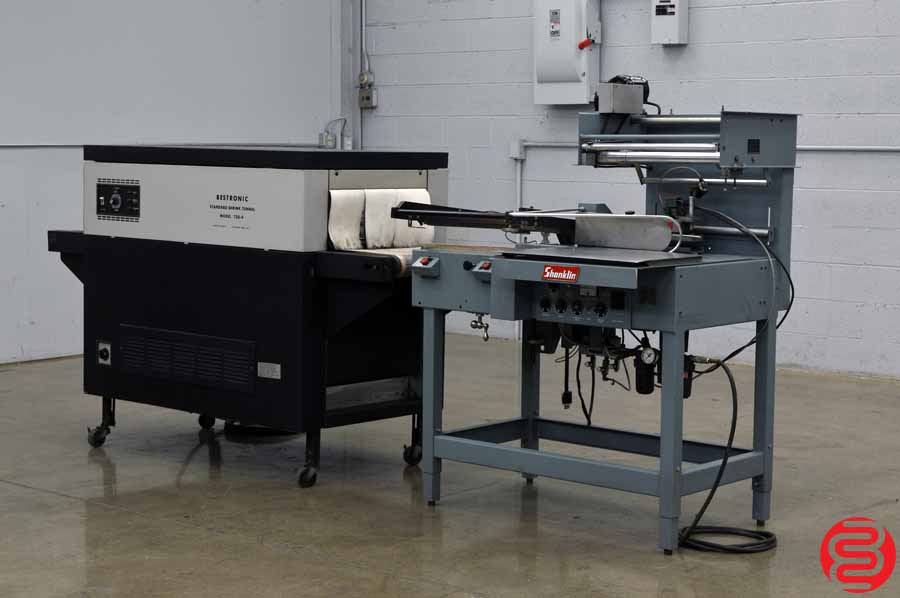 Shanklin S23C Automatic Shrink Wrap System w/ Magnetic Hold Down and Power Take Away