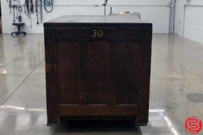 Hamilton Composing Stone Letterpress Cabinet
