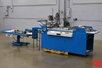 Haskins Hyp-2 Hyperfold Automatic Pocket Folder Gluer with Valco Melton Glue