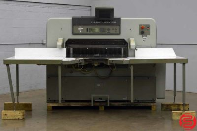 Polar 115 EMC-MON Programmable Paper Cutter w/ Extended Air Table, Computer Upgrade, and Safety Lights
