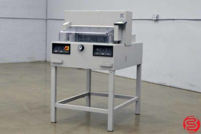"""Triumph Ideal 4850-95 EP 18.5"""" Hydraulic Programmable Paper Cutter w/ Safety Cover"""