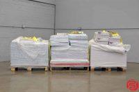 Assorted Paper - Qty 3 Pallets - 80LB 12 x 18, 100 LB 12 x 18, 70LB 19 x 25