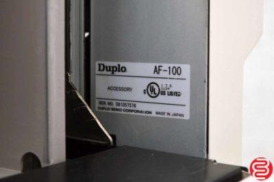 Duplo AF-100 Vacuum Feeder for DC-545 Business Card Slitter