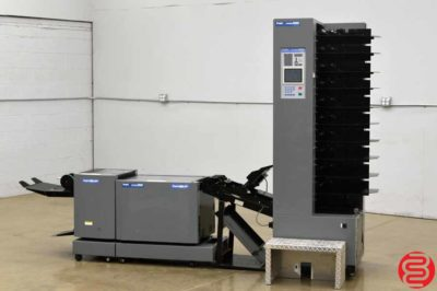 2001 Duplo System 4000 10 Bin Booklet Making System w/ DBM 120 Stitcher, Folder, and Trimmer