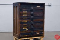 Hamilton Letterpress Type Cabinet - 24 Drawers - 022019112638