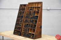 Letterpress Furniture Cabinets w/ Assorted Wood Furniture - 030519095908