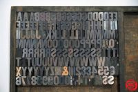 Letterpress Wood Type - Full Set Uppercase - 022819125551
