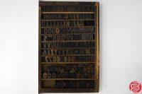 "Assorted Letterpress Wood Type Font - 1"" - 042219013320"