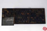"Assorted Letterpress Wood Type Font - 2"" - 042219014204"