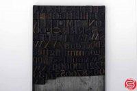 "Assorted Letterpress Wood Type Font - .9"" - 042219015815"