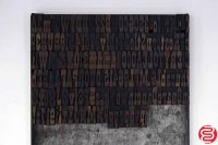 "Assorted Letterpress Wood Type Font - 1"" - 042219021212"