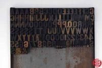 "Assorted Letterpress Wood Type Font - .7"" - 042219021516"