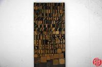 "Assorted Letterpress Wood Type Font - 1"" - 042219022125"