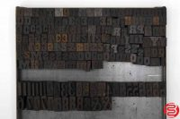 "Assorted Letterpress Wood Type Font - .5"" - 042219022429"