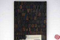 "Assorted Letterpress Wood Type Font - 1"" - 042219030948"