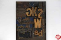 Assorted Letterpress Wood Type Font - 042219032144