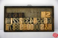 "Assorted Letterpress Wood Type Font - 4"" - 042219121129"