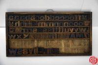 "Assorted Letterpress Wood Type Font - 1.5"" - 042219123418"