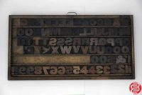 "Assorted Letterpress Wood Type Font - 2"" - 042219124723"