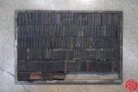 Assorted Letterpress Wood Type - Full Set Capitals Full Set Lowercase - 052919030056